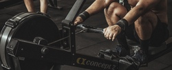 Exercise can help with fatigue man on rower