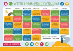 Action for Happiness monthly action calendar